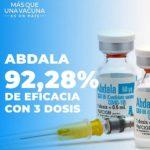 La vacuna cubana Abdala tiene eficacia del 92,28 por ciento